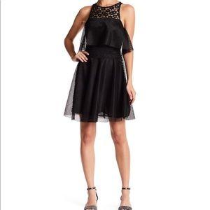 🆕 Betsey Johnson black lace mesh dress- size 0
